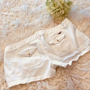 Hollister white shorts size 5 women's